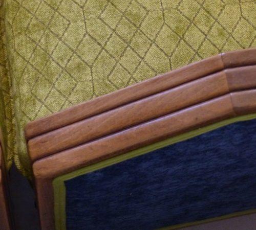 fauteuil art déco détail mise en beauté des bois