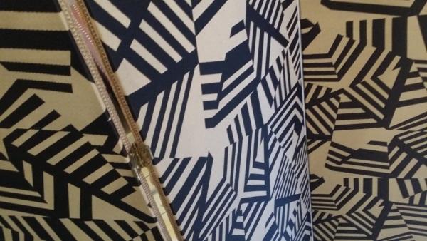 Paravent Textile Art Déco Graphique