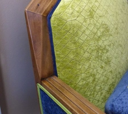 fauteuil art déco détail dossier