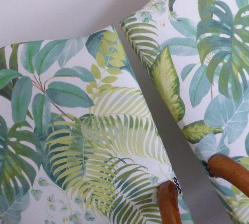 Fauteuil Louis 14 tropical florida foret jungle
