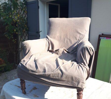 fauteuil confortable avant restauration
