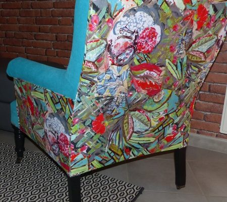 fauteuil confortable bleu coloré lalie design