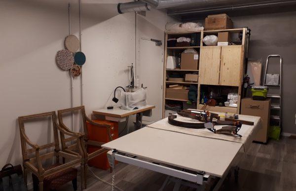atelier machine à coudre établi