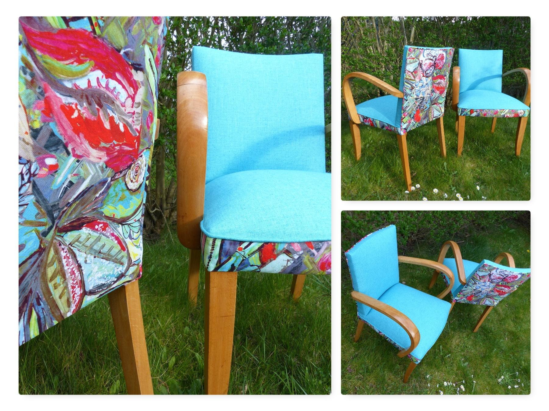 paire fauteuil bleu couleurs