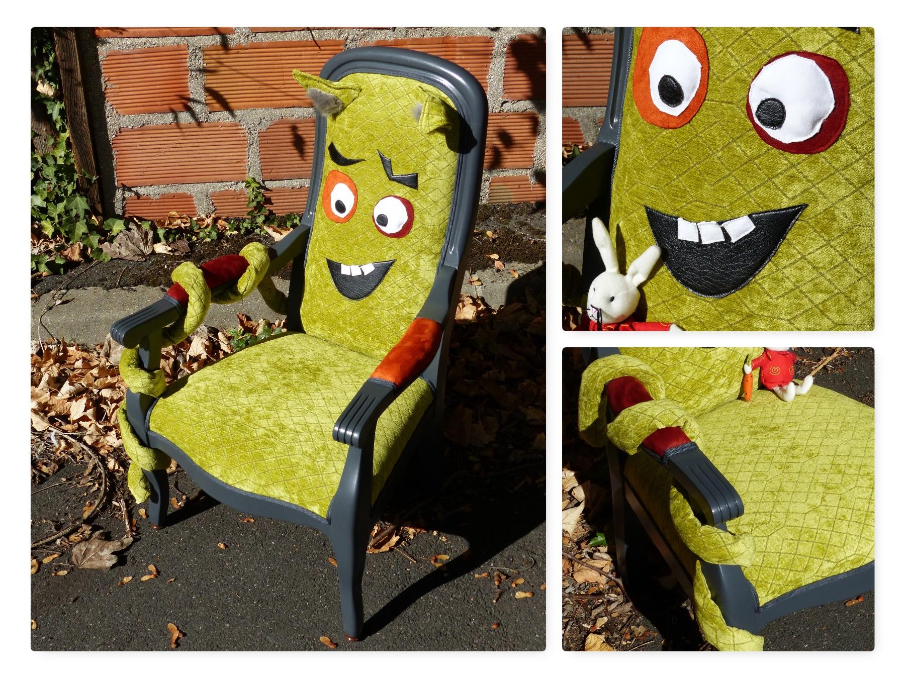 fauteuil dragon vert