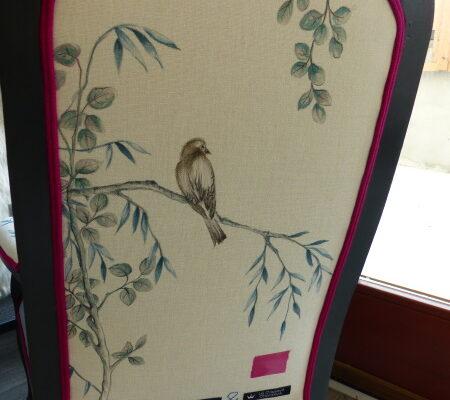 Voltaire enfant inspiration japon oiseau feuillage VERSO