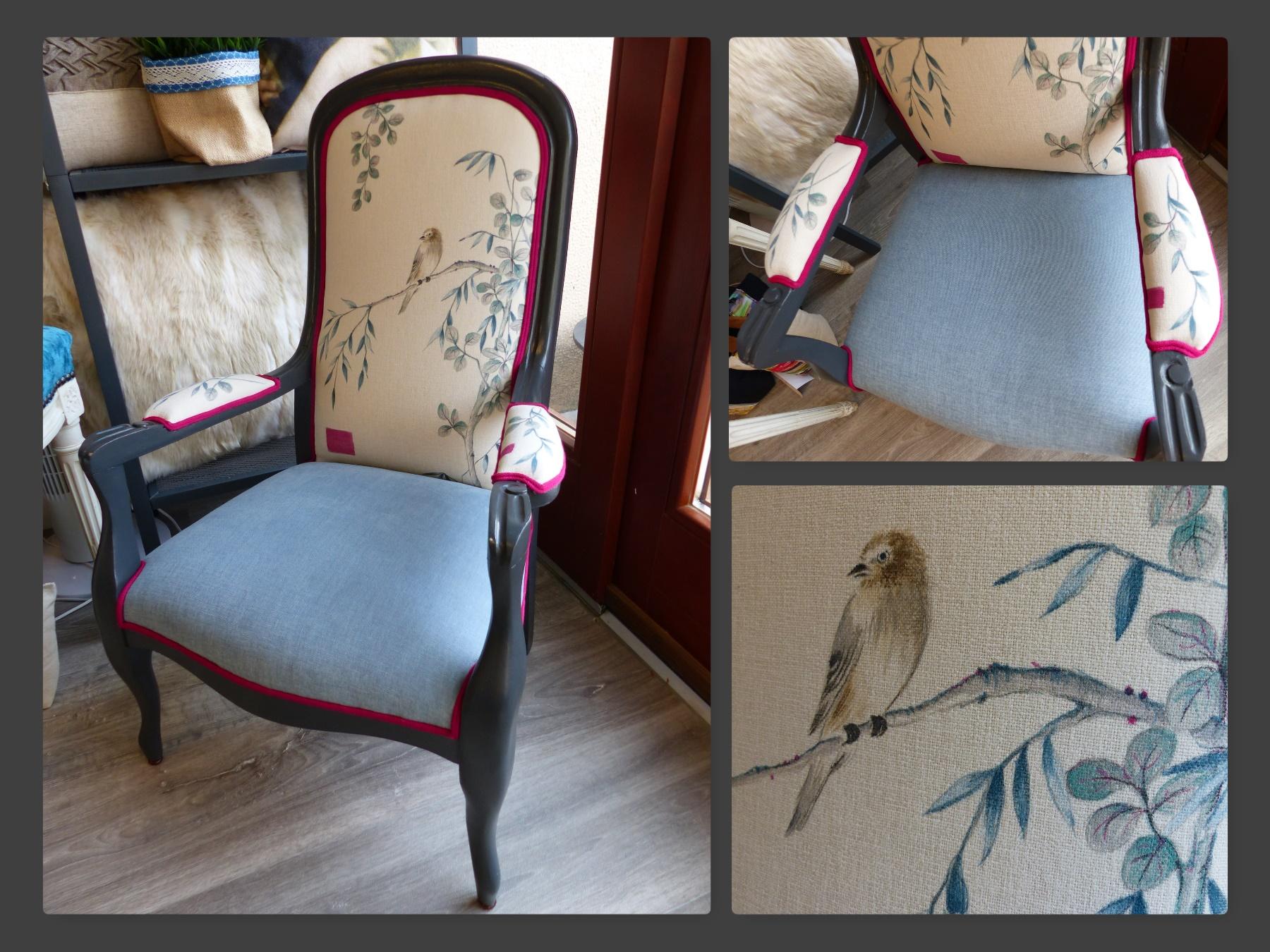 Voltaire enfant inspiration japon oiseau feuillage
