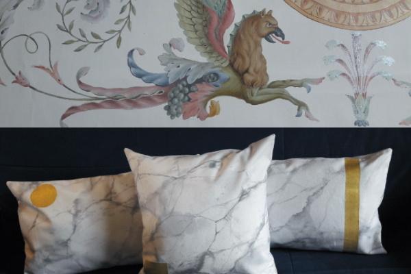 peinture décorative textile jema