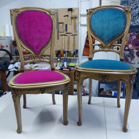 Chaise et chauffeuse Art Nouveau
